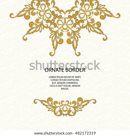 Decorative border classic pattern graphic design stock for Classic border design