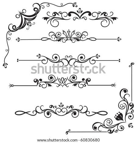 Decorative Borders - stock vector