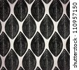 Decorative bright ethnic seamless pattern.Seamless black and white leaves texture - stock vector