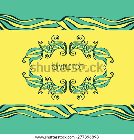 Decorative bright vector frame.Template for design. Well suited for greeting cards or invitations.