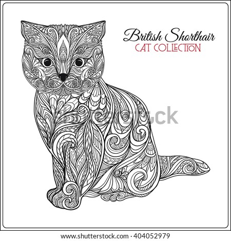 Decorative british shorthair cat vector illustration stock vector decorative british shorthair cat vector illustration this illustration can be used as a greeting m4hsunfo