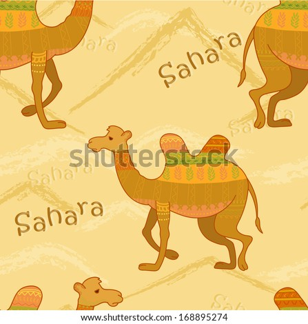 decorative camel in desert cartoon camel watercolor camels in desert