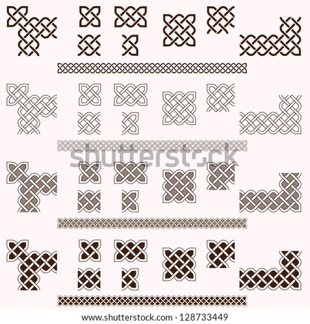 Decorative Celtic border vector elements