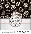 Decorative Christmas Ball Background - stock vector