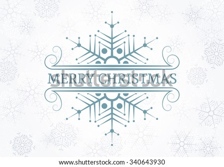 Decorative Christmas design element. Typographic vintage Christmas label, frame, border, badge, logo, ornament. Vector illustration for Christmas banner, invitation, postcard, card, vignette. - stock vector