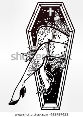 Katja gerasimova 39 s portfolio on shutterstock for Zombie tattoo machine
