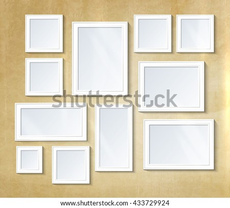Decorative collage photo frames.