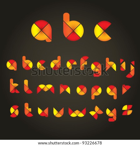 Decorative Colored Alphabet - stock vector