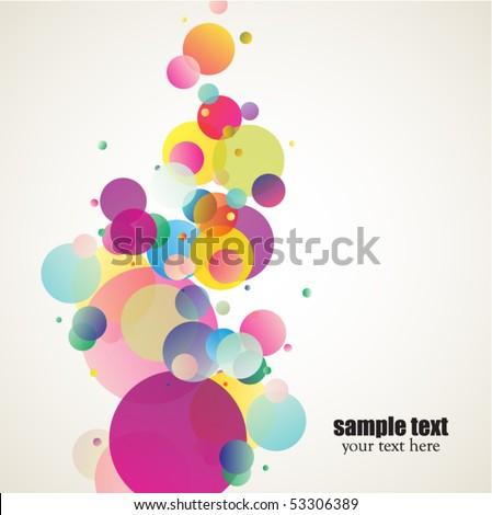 decorative colorful circles - stock vector