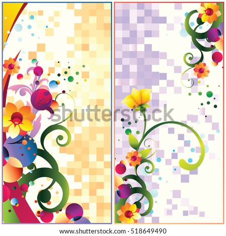 Decorative colorful floral backgrounds