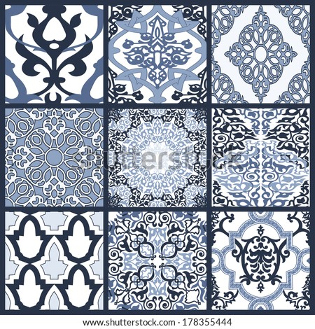 Decorative colorful pattern in mosaic ethnic style. Vector background illustration - stock vector