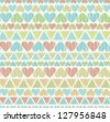 Decorative colorful seamless romantic texture. Endless pattern with stylized hearts. Template for design and decoration - stock vector