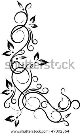 Decorative corner - stock vector
