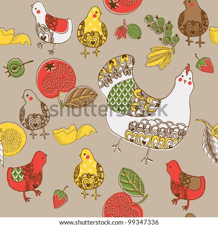Decorative Country Easter patterned tile