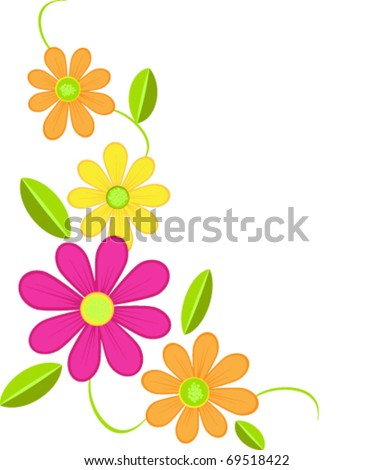 decorative daisy corner embellishment