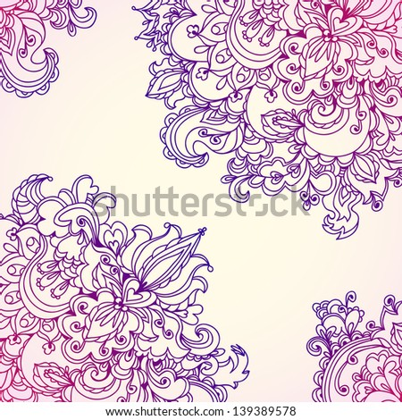 Decorative design corners. Elements for invitation card. Wave design for your card.