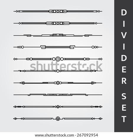 divider set vector - photo #23
