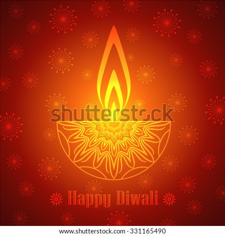 Decorative Diwali Lamp Design