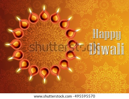 Decorative Diwali Lamps Design