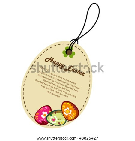 Decorative easter eggs. greeting card. - stock vector