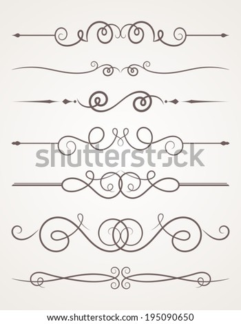 Decorative elements. - stock vector