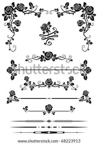 Decorative elements - stock vector