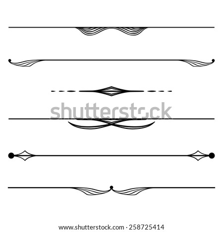 decorative elements, border and page rules - stock vector