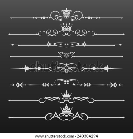 Decorative elements. Calligraphic Design Elements, Dividers. Vector image. Vintage. - stock vector