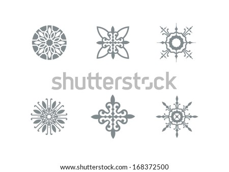 decorative elements, circular motifs - stock vector
