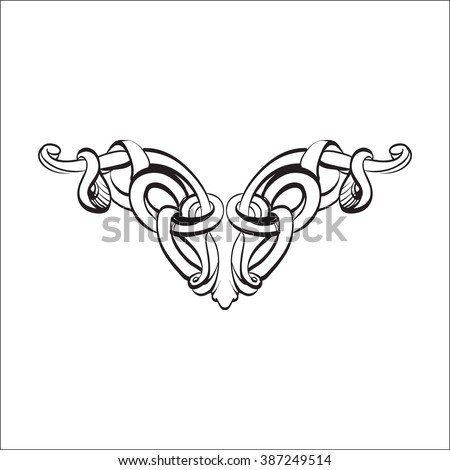 decorative elements in vintage style for decoration layout, framing, for advertising, vector illustration - stock vector