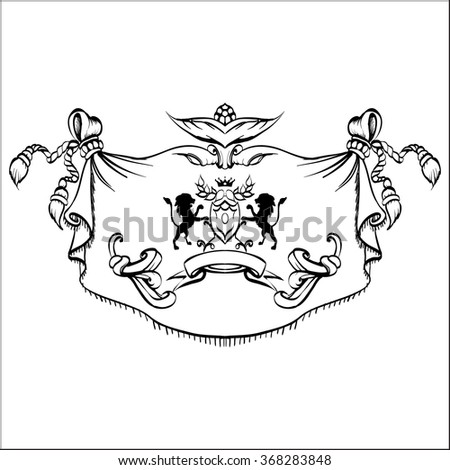 Vector abstract ornamental decorative frame hand stock for A style text decoration