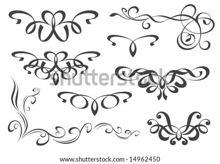 Decorative elements set - stock vector