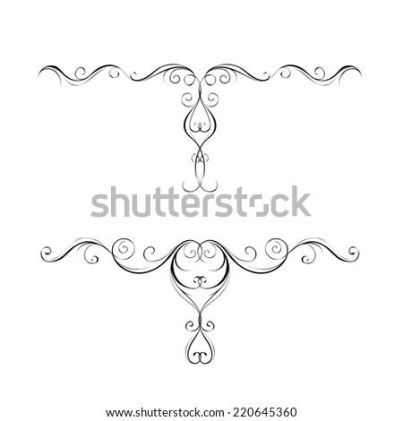 Decorative elements. Vector set.  - stock vector