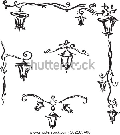 Decorative elements with lanterns