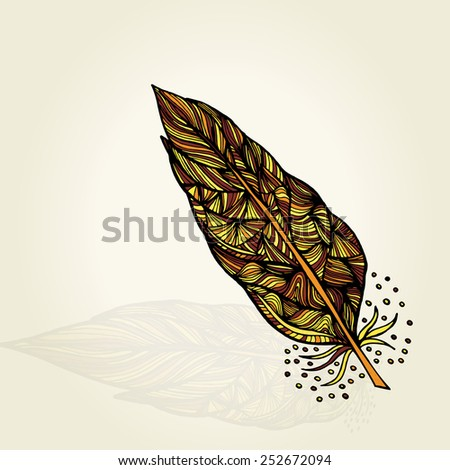 Decorative feathers - stock vector
