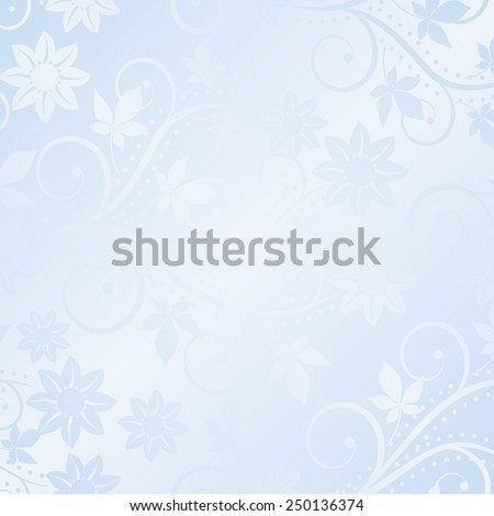 decorative floral background - stock vector