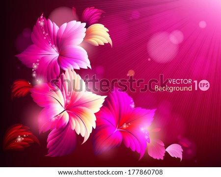 Decorative floral background. Vector eps 10. - stock vector