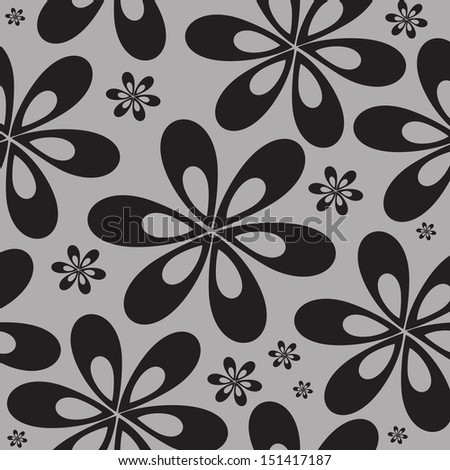 Decorative floral background with flowers - seamless pattern