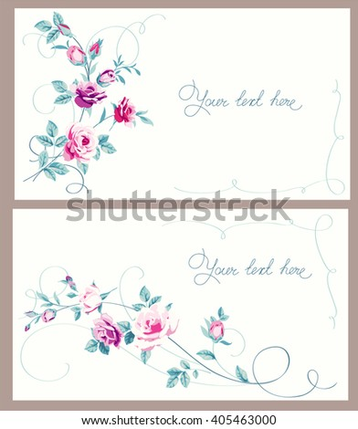 Decorative floral backgrounds - stock vector