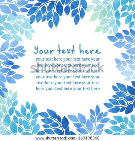 Decorative floral card with place for your text  - stock vector