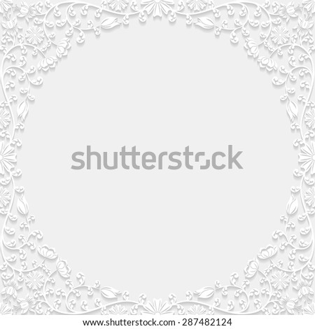 Decorative floral frame. Vector illustration.  - stock vector