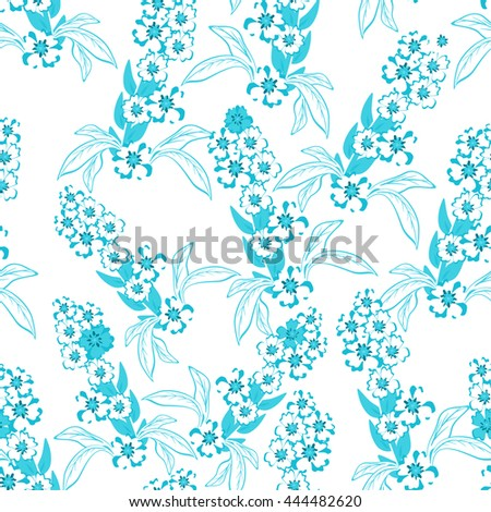 Decorative floral seamless pattern. Floral background. vector illustration,  - stock vector