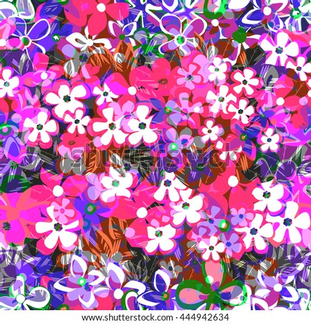Decorative floral seamless pattern. Floral background. vector illustration,