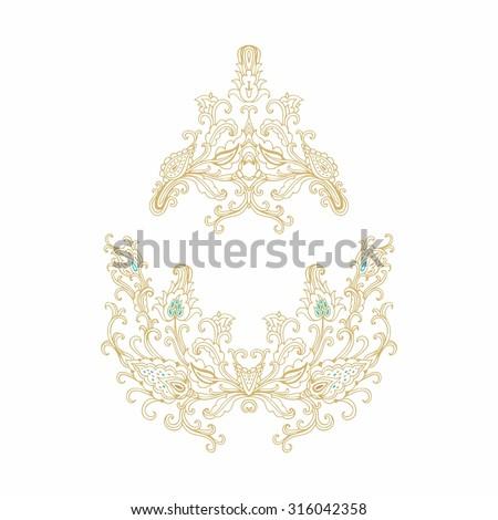 Decorative floral vignettes - stock vector