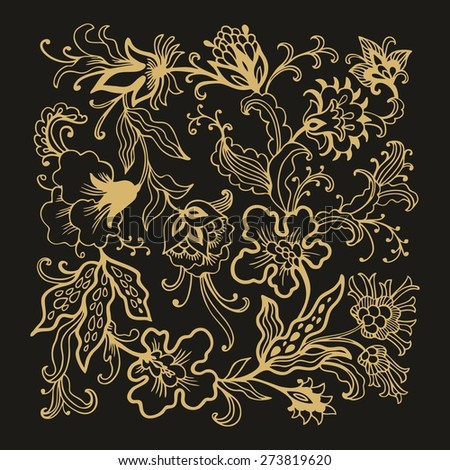 Decorative flourish composition - stock vector
