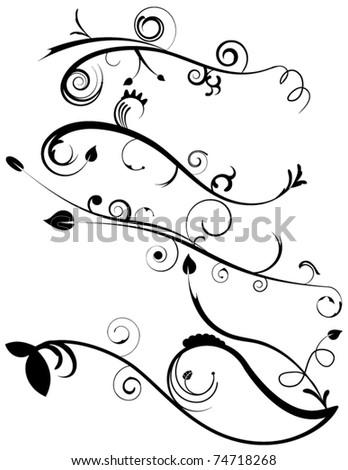 Decorative Flourishes Set 4 - stock vector