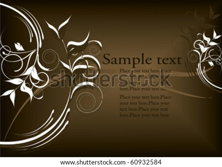 decorative flowers design with place for text