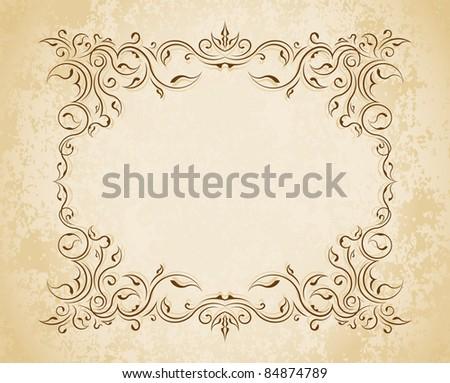 decorative frame for design - stock vector