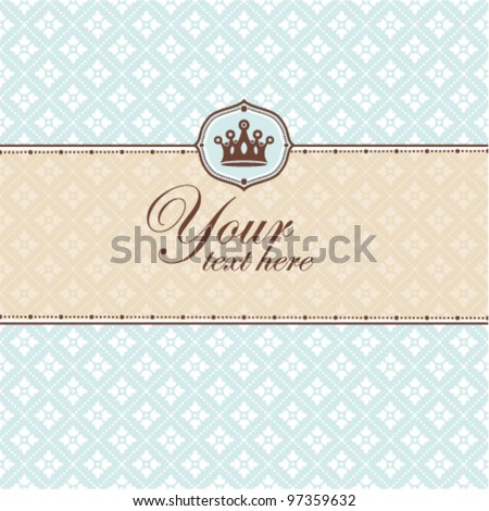 Decorative frame. Great for greeting cards and invitations. - stock vector