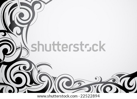 Decorative frame in tribal art style